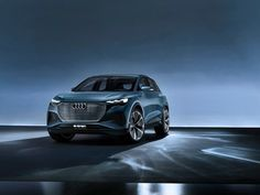 Audi e-tron concept compact electric SUV with all-wheel drive presented at Geneva Motor Show. The Audi e-tron concept is a compact four-door SUV with a… Audi Q4, Audi Cars, Bmw X3, Jeep Wrangler, Ford Mustang, Peugeot, Nissan, Citroen C5, Vw Group