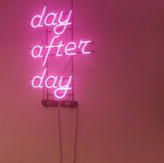 ´Day after day' Neon sign in Ader Error Showroom