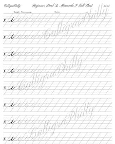 Calligraphy Lessons, Calligraphy Worksheet, Calligraphy For Beginners, Copperplate Calligraphy, Calligraphy Envelope, Calligraphy Practice, Calligraphy Alphabet, Caligraphy, Uppercase Alphabet
