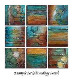 Original Abstract Painting - Abstract Art - TEXTURED Painting - Shades of Turquoise, Brown, Rust, Golden Amber and White - by Marie Bretz Texture Art, Texture Painting, Painting & Drawing, Wal Art, Painting Techniques, Painting Inspiration, Modern Art, Art Drawings, Canvas Art