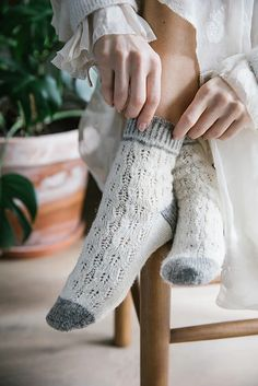 These Meerschaum socks by Sachiko Burgin are the perfect mix of warm and cozy and light and lacy. Mitten Gloves, Mittens, Knitting Socks, Knit Socks, Warm And Cozy, Fingerless Gloves, Arm Warmers, Ravelry, Knit Crochet