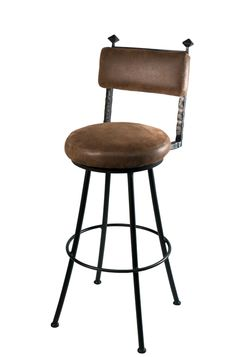 Forest Hill Iron Round Bar Stool