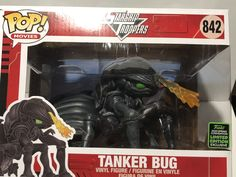 Starship Troopers Tanker Bug 6-Inch Deluxe Pop! Vinyl Figure - 2020 Convention Exclusive Black Widow White Suit, Starship Troopers Bugs, Pop Vinyl Figures, Classic Films, Action Figures, Darth Vader, September 28, Funko Pop, Om