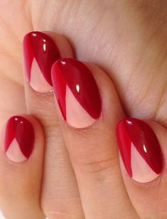 DIY Nail Art  Designs - Diseño de uñas facil color rojo♛