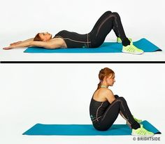 Get your sexiest body ever without,crunches,cardio,or ever setting foot in a gym Fitness Workouts, Yoga Fitness, Muscle Fitness, Easy Workouts, Sixpack Workout, Pilates Workout, Cardio, Core Muscles, Back Muscles