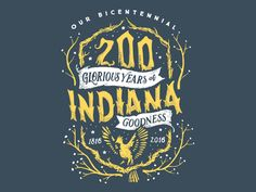 Work in progress for an Indiana Bicentennial shirt. It's almost where the artist wants it to be. We like it!