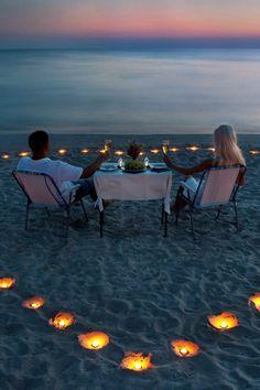 Romantic Night on the Beach