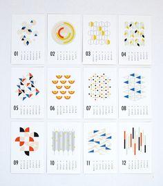 2014 Cal Dozi Shapes in Calendar/Geometric