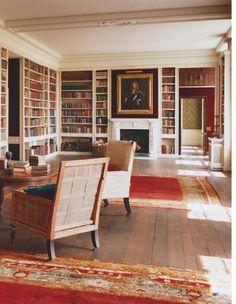 World of Interiors World Of Interiors, Office Interiors, Cozy Library, Library Ideas, Home Libraries, Beautiful Interiors, Bookcase, Bookshelves, Architecture Design