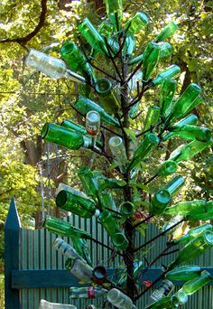 Green Bottle Tree Behind my fence (Felder Rushing)