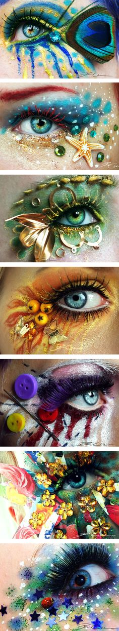 Stunning Eye Make-Up Art! Can't get over how awesome these are! Stunning Eye Make-Up Art! Can't get over how awesome these are! Make Up Art, Eye Make Up, Maquillaje Halloween, Halloween Makeup, Art Visage, Fantasy Make Up, Make Up Inspiration, Makeup 101, Beauty Makeup