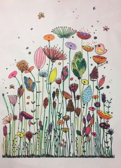 Und der Gewinner ist … Amélie Laffaiteur Amelie Der Gewinner illustration ist Laffaiteur und is part of Flower drawing - Doodle Drawings, Doodle Art, Art Floral, Watercolor Cards, Watercolor Paintings, Watercolour, Flower Doodles, Oeuvre D'art, Flower Art