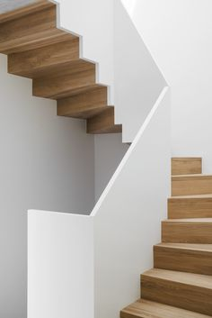 Construction of a house with two apartments - Collectiflabo Architectes S . - Construction of a house with two apartments – Collectiflabo Architectes Sàrl - Staircase Railings, Staircase Design, Stairways, Spiral Staircases, Contemporary Stairs, Modern Stairs, Basement Stairs, House Stairs, Cucina