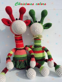 Amigurumi jirafa peluche juguete Navidad decoración hogar Crochet juguete colección jirafa suave juguete artista personalizado juguete juego animales del juguete HECHO A LA MEDIDA Haciendo tiempo para una jirafa - 3 días ¡La Navidad es todo! ¡Mira estas jirafas lindos,