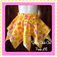 Twirly skirt....gorgeous for Easter by TootieBooBowtique on Etsy