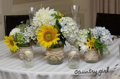 Sunflower Wedding Decor by Girl Collections
