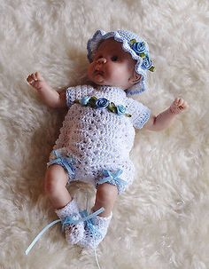 "Sweet ROMPER SET for 7"" OOAK doll....by Lynne"