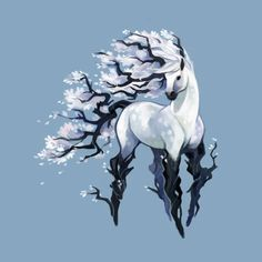 Tea Spirit - Earl Grey - A gallery-quality illustration art print by Heather Penn for sale. Mythical Creatures Art, Mythological Creatures, Magical Creatures, Mystical Creatures Drawings, Cute Fantasy Creatures, Creature Drawings, Animal Drawings, Cool Drawings, Horse Art