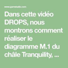 Dans cette vidéo DROPS, nous montrons comment réaliser le diagramme M.1 du châle Tranquility, DROPS 137-29. Ce châle se crochète en DROPS BabyAlpaca...