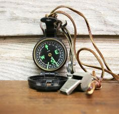 Vintage Boy Scout Compass and Accessories by AuroraMills, $28.00