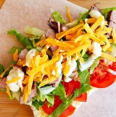 Super simple recipe for a lunch or dinner time Steak Roll, topped with cheese. Healthy Family Meals, Healthy Snacks, Steak Rolls, Cheese Ingredients, Rolls Recipe, Light Recipes, Beef Recipes, A Food, Easy Meals