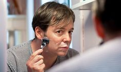 """Sara Krulwich/The New York Times  Matthew Broderick prepares in his dressing room at the Imperial Theater, where he stars in """"Nice Work if You Can Get It,"""" opening on April 24"""