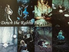 Fantasy Collages Number 16: Down the Rabbit Hole (Alice in Wonderland)