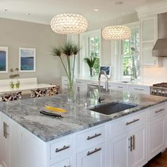 Awesome Gray Granite Counter Design Ideas, Pictures, Remodel, And Decor
