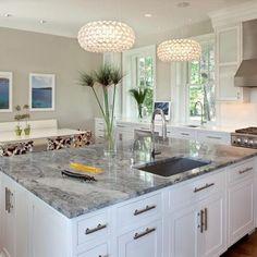 Gray Granite Counter Design Ideas, Pictures, Remodel, and Decor