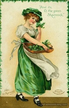 Recipe Article - planning and hosting a Shamrock Luncheon. #oldfashionedliving #StPatricksDay