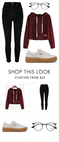 """Sin título #69"" by worldofalicin on Polyvore featuring moda, River Island, Puma y Ray-Ban"
