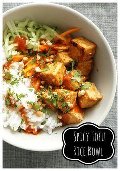 Spicy Tofu Rice Bowl | Vegan Gretchen