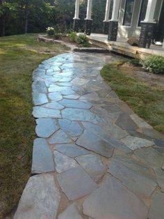 Flagstone Walkway Design Ideas saveemail aloe designs Ayles Natural Landscaping Stone Walkway
