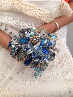 I love this broach bouquet. Great colors.