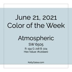 Your Color of the Week and energy reading for the week of June 21, 2021. Let's clear the air, our minds and our energy.