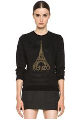 KENZO | Eiffel Tower Sweatshirt in Black