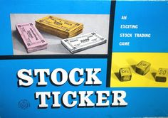 Vintage Stock Ticker Board Game Family Board Game by RetroClassics, $45.00