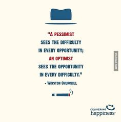 Always be an optimist