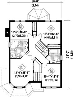 Victorian House Plan 49393 Level Two