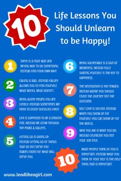10 Life Lessons You Should Unlearn to be Happy!