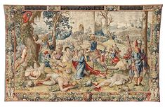 "Pieter Coecke van Aelst (Netherlandish, 1502–1550). The Story of Saint Paul: The Martyrdom of Saint Paul, designed ca. 1529, woven before 1558. Woven under the direction of Paulus van Oppenem (Flemish). Patrimonio Nacional. | This work is featured in ""Grand Design: Pieter Coecke van Aelst and Renaissance Tapestry,"" on view October 8, 2014–January 11, 2015. #Coecke #tapestrytuesday #granddesign"