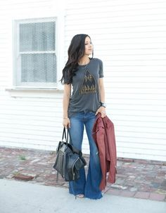 Rocker Tee + Flares - Andee Layne - - Rocker Tee + Flares – Andee Layne Source by Tuckertainment Fall Outfits, Summer Outfits, Casual Outfits, Cute Outfits, Emo Outfits, Look Fashion, Fashion Outfits, Womens Fashion, Fashion Quiz