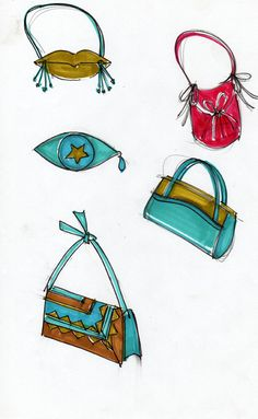 bags sketches