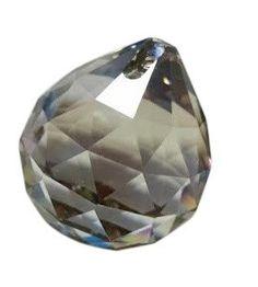 50mm Satin Grey Chandelier Crystal Faceted Ball Prism