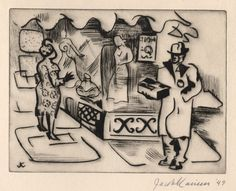 Jacob Kainen ( 1909 - 2001 )  ' Store Front ' 1949 Shop Fronts, Store, Shopping, Tent, Shop Local, Display Cabinets, Shop, Storage
