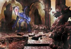 Aggressive Blue Draconian, {of the Retrieved From Oblivion Series}; 3D computer graphic art from Bill M. Tracer Studio at Picable: http://www.picable.com/Art/Digital-Art/Of-the-Retrieved-From-Oblivion-Series-Aggressive-Blue-Draconian.46216