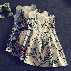 Azbro  Floral Printing Dresses