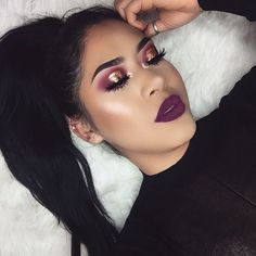 "2,060 Likes, 22 Comments - @nancyaguilar_ on Instagram: ""Flirty Valentine's Day Make Up Look  using @anastasiabeverlyhills modern renaissance palette and…"""