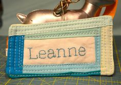 Quilted Name Tag