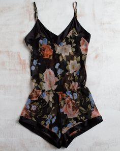 Dark floral jumper
